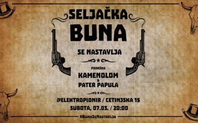 Seljačka Buna – Povratnički koncert 7. marta u Elektropioniru