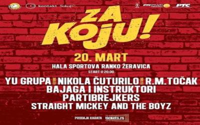 Koncert za Koju 20. marta