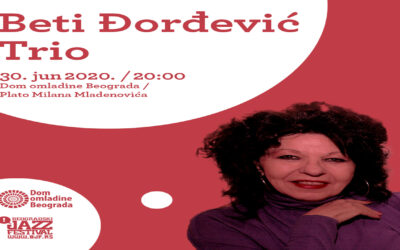 Beti Đorđević i Trio na Zidiću Doma omladine