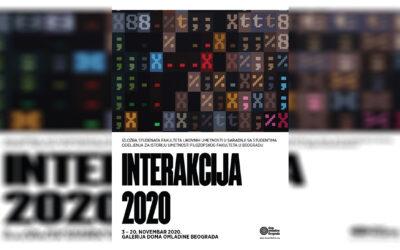 """Izložba """"INTER/AKCIJA 2020."""" u Galeriji Doma omladine Beograda"""