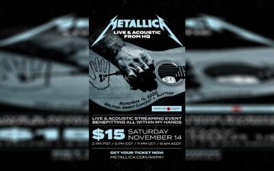 "Metallica najavila ""Live & acoustic"" streaming humanitarni koncert"