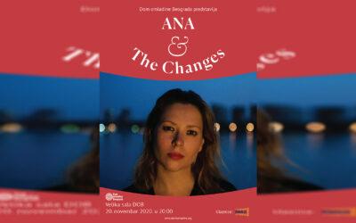Ana Ćurčin & The Changes 20. novembra u Domu omladine Beograda