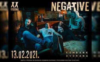 Koncert grupe Negativ 13. februara u Kombank dvorani