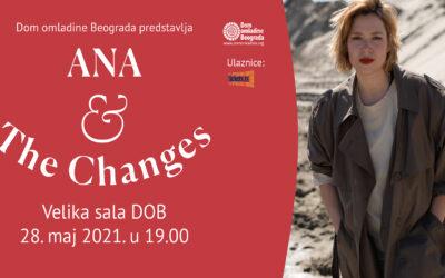 Ana Ćurčin & The changes uživo u Domu omladine Beograda