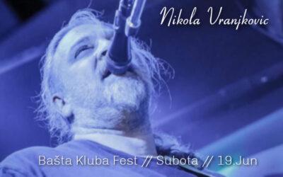 Nikola Vranjković u bašti kluba Fest 19.juna