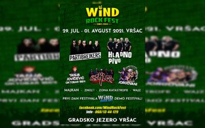 Wind Rock Fest u Vršcu od 29. jula do 01. avgusta