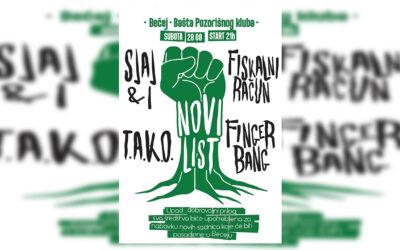 """""""Novi list"""": Muzikom do zelenijeg Bečeja"""