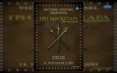 """Večernji glumačko-muzički spektakl """"Tri muskerata"""" 14. novembra u Kombank dvorani"""