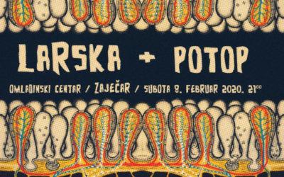 Larska i Potop, 8. februar, Omladinski centar Zaječar