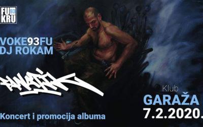 "Voke93Fu – promocija albuma ""Fanatik"" u petak u Garaži"
