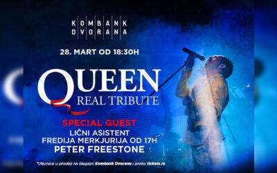 "50 godina od osnivanja rok sastava ""Queen! – ""Queen real tribute"" u Kombank dvorani 28. marta"
