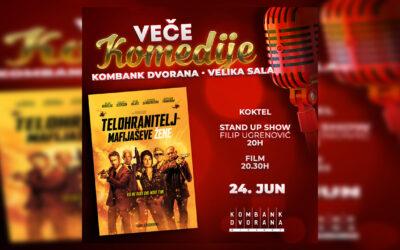 """""""Veče komedije"""" u Kombank dvorani uz stand up show Filipa Ugrenovića i akcionu komediju Patrika Hjuza """"Telohranitelj mafijaševe žene"""""""