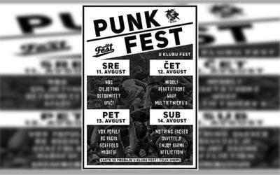 Punk Fest u klubu Fest od 11. do 14.avgusta