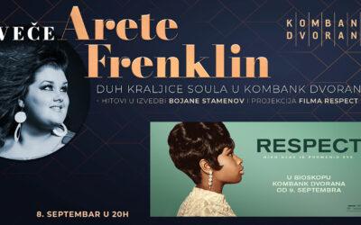 Veče Arete Frenklin u Kombank dvorani 08. septembra